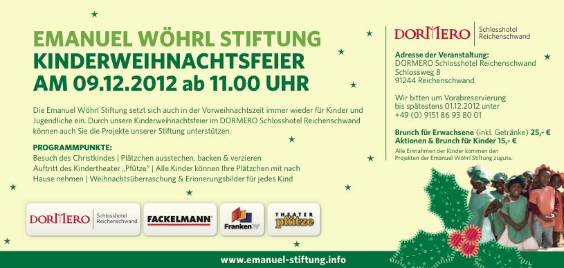 Weihnachstfeier 2012 der Emanuel Wöhrl Stiftung