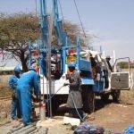 Bau eines Brunnens für die Grundschule St. James in Thika, Kenia.