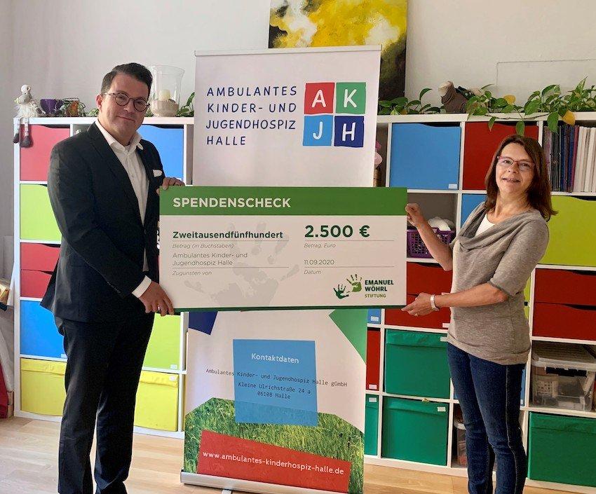 Emanuel Wöhrl Stiftung: Spende für Ambulantes Kinder- und Jugendhospiz Halle