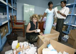 Dagmar Wöhrl Babyhospital Galle Sri Lanka 200 Kilo Medikamente