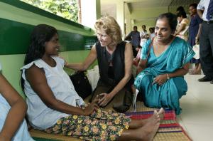 Dagmar Wöhrl Babyhospital Galle Sri Lanka Hilfsgütertransport