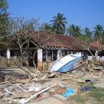 Mahamaya-Grundschule Hikkaduwa Sri Lanka Schulgelaende nach der Flut