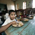 Dagmar Wöhrl Waisenhaus bei Hikkaduwa Sri Lanka Essen