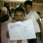 Dagmar Wöhrl Waisenhaus bei Hikkaduwa Sri Lanka Traumabilder
